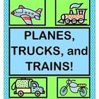 ADD A GAME and CRAFT to your TRANSPORTATION THEME!  Get your Social Studies lesson up and traveling!  Moving bricks?  Moving mail?  Moving crates of ducks?  Play this ACTIVE GROUP GAME, and your kids can COMPARE and CONTRAST which types of Transportation work best for the 'goods' they are moving!  Craft Templates, TRANSPORTATION RHYME POSTERS (5), and a list of 'TALKING POINTS' are all provided.  Transportation Time-- with Rhythm and Rhyme!  (14 pages)  From Joyful Noises Express TpT!  $