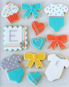 Baby shower cookies. cute!