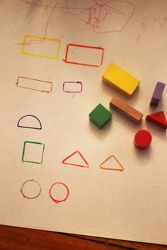 Learn shapes and colors with a simple block activity.