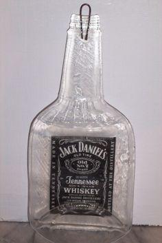 flattened bottle - jack daniels