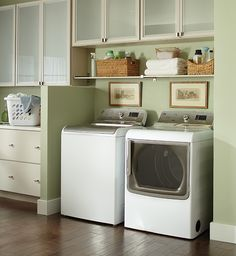 This is the year to turn your laundry room into a space you don't mind spending time in! What does your dream laundry room look like? #storage #organization