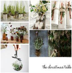 the christmas table....like the napkin holders!