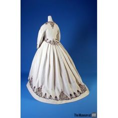 Afternoon dress  Medium: White cotton piqué and black cotton cording Date: 1867 Country: USA Credit: Museum Purchase