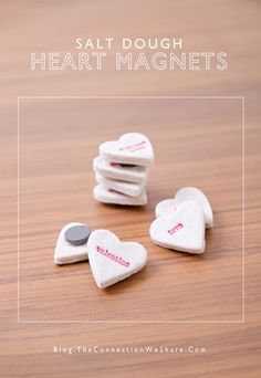 Valentine's Day Crafts - Salt Dough Heart Magnets
