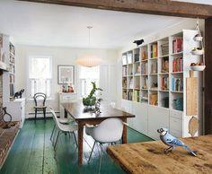 Green Floor Kitchen Boston Remodelista