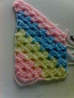 Diagonal granny scarf