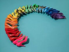 bc everyone needs a rainbow of shoes