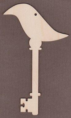 WT2706-Laser cut Decorative Key-Crow-Deb