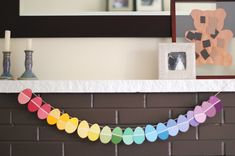 DIY Easter Garland (Made with Paint Chips)