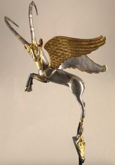 winged ibex used as handle of vase from Palace of Darius I, from Shush (ancient Susa), Iran
