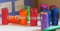 Exploring our world with DIY color scopes   Teach Preschool