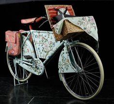 hand painted wallpaper bike
