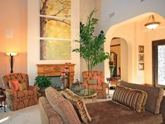 HIGH CEILINGS AND LARGE SCALE FURNISHINGS