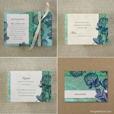 Hydrangea Wedding Invitations: Vintage Artistry for a Spring Wedding  #hydrangea #wedding #invitations #spring
