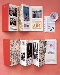 use travel books and brochures as scrapbooks.