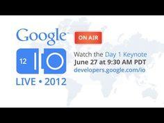 Google I/O ao vivo, lançamento de novos produtos e do tablet! Neste momento o tablet!!!