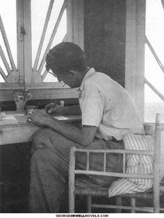 George Orwell writing