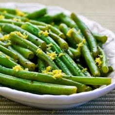 Recipe for Lemony Green Beans (Green Beans with Lemon Juice and Lemon Zest) [from Kalyn's Kitchen]