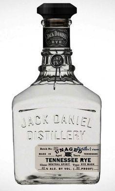 Jack Daniel's Unaged Rye #emballage #design #packaging #graphic #minimalism
