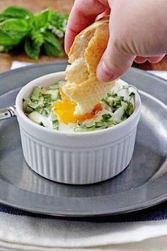Baby Kale and Artichoke Baked Eggs by insockmonkeyslippers #Eggs #Kale #Artichoke #Healthy