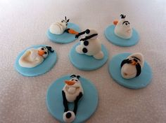 Frozen Inspired Fondant Cupcake Toppers on Etsy, $15.00