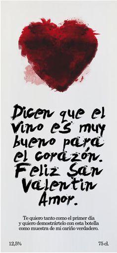 Diselo con vino. Etiqueta Romántica 7.