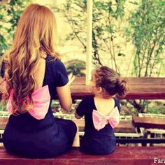 Mommy and baby matching dresses <3