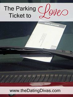 Our Love on the Run idea this week is to leave a parking ticket of love! www.TheDatingDivas.com #LOTR #lovenotes #creativedates