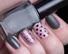 Hearts mix-n-match #nails
