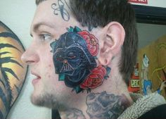 It's not even a great #StarWars tattoo concept. Why the #roses? Is this #DarthVader a #Spanish bullfighter? Also why the #bloody #eyes?
