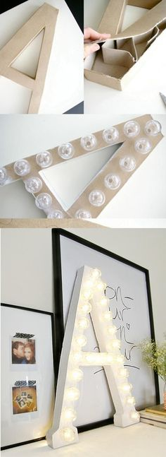 DIY marquee lettering decor for a #wedding or home