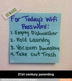 21st century parenting. Genius.