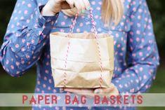 DIY Paper Bag Baskets