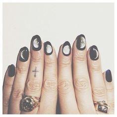 moon cycle nails #nails #nail_art #moon #beauty #manicure