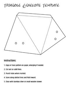 triangle envelope template