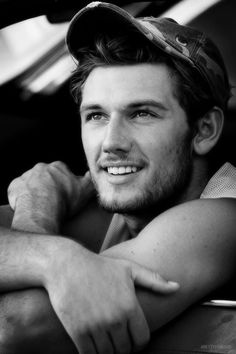 Alex Pettyfer / Black  White Photography--I don't know who this is, but he sure is a sight for sore eyes