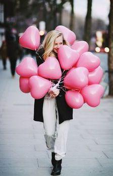 Heart shaped balloons!