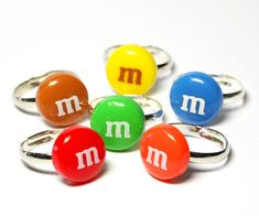 M Candy Ring  cute kawaii fake miniature food by BitOfSugar, $7.00