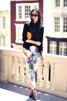 Tuxedo Blazer & Printed Pants