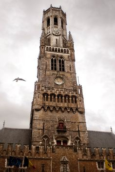 A real eye-catcher, the Belfry of Ghent, Belgium