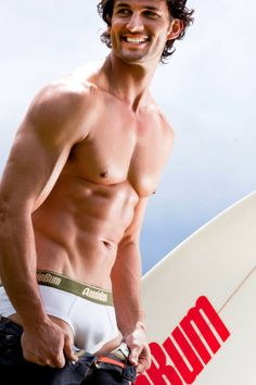 Tim Robards for Aussiebum (2009) #TimRobards #Australian #malemodel #model #fitness #fitnessmodel #Aussiebum #ChadwickModels #TheBachelor #pecs #chest #abs #muscles #underwear #smile #surf #board