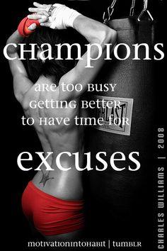 no excuse.