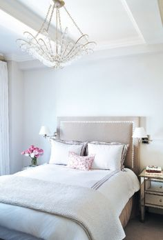 Elegant, feminine & sophisticated and completely impractical. Bedroom chandeliers are tops. Gorgeous.    source: nycg