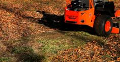 It's the time of the year again when the leaves start falling, don't waste your time or money raking them use your Bad Boy Mower to mulch them. These leaves can be mowed with a Bad Boy Mowers Outlaw XP.