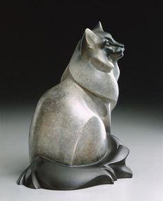''Misty'' (bronze sculpture of Birman house cat by artist and sculptor Jan Rosetta).