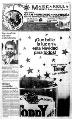 Publicidad navideña de Toddy. Publicado el 23 de diciembre de 1991.