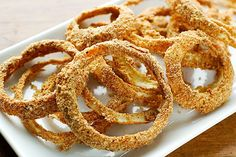 raw vegan onion rings. these are so good, they barely make it out of the dehydrator