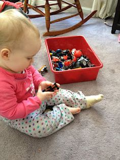 """5 Ways to Occupy a Toddler- I like the idea of """"special boxes"""" of toys that are saved for specific times (e.g. when nursing baby, working with older kids, etc.)"""