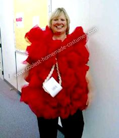 Dress up as a loofah--costume made out of tulle!