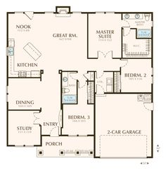 Home floor plans for when we build one day on pinterest for Great room floor plans single story